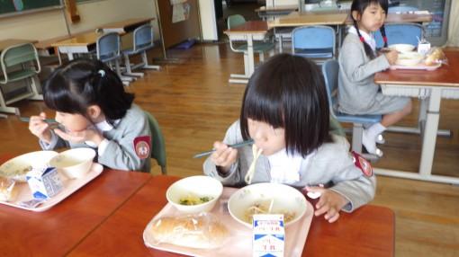 学校給食試食体験
