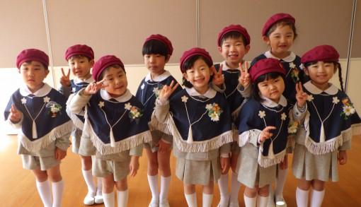 卒園式が始まる前の園児たち